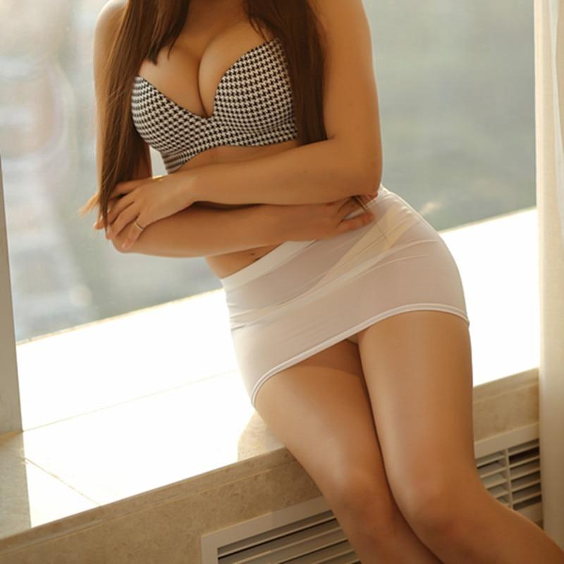 Ultra Delgado Transparente Sexy Falda B Apretado Mini Falda