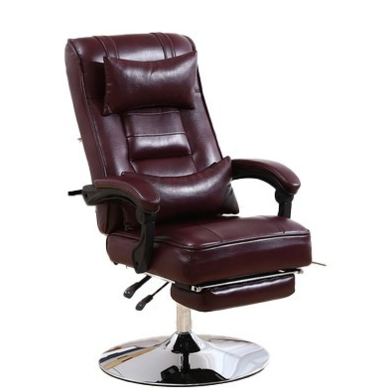 High Quality 1886 Poltrona Silla Gamer Office Boss Live Synthetic Leather Chair Ergonomics With Footrest Household Disc Foot