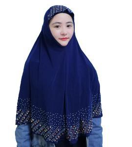 Image 4 - Nieuwe Moslim Vrouwen Amira Gebed Hoed Hijab Sjaal Headwrap Overhead Cover Khimar Islamitische Hoofddoek Volledige Cover Hijab Arabische Sjaal Nieuwe