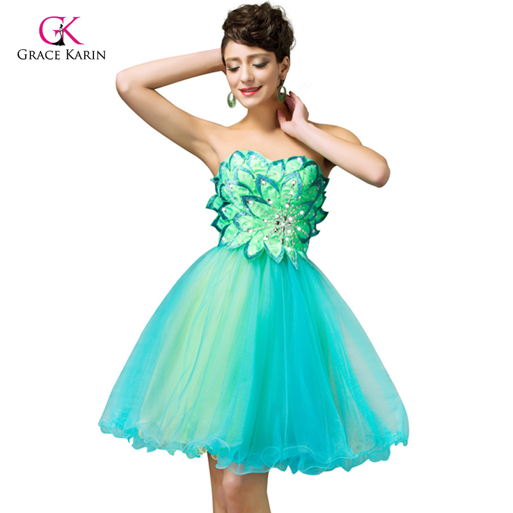 Beadings Cocktail Dresses 2018 luxury Green Summer Sleeveless Cheap robe de Cocktail Mini Party Graduation Gown coctail dress