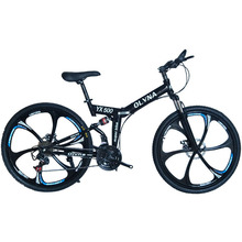 Folding mountain bike 21 speed mountain bicycle double disc brake bike New folding mountain bicycle Suitable for adults