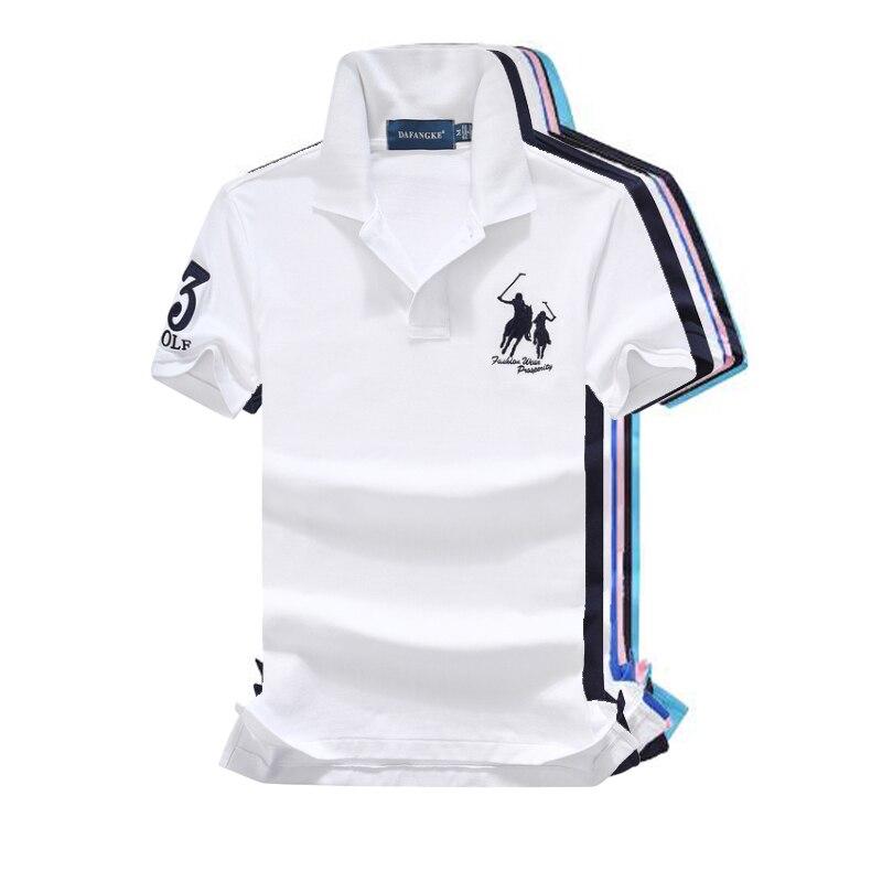16 Colors 2019 Fashion brand Summer mens short sleeve horse   polos   shirts cotton mens lapel   polos   shirts casual slim mens tops