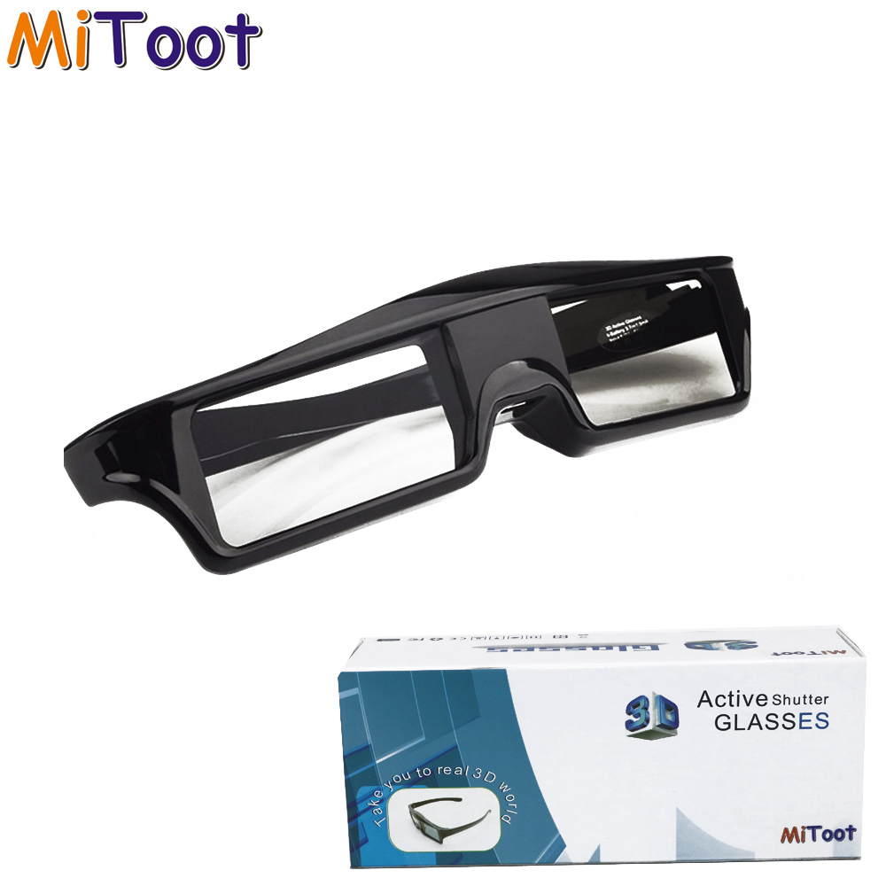 MiToot 4Pcs Shutter Active Bluetooth RF 3D glasses 480HZ for Sony Samsung 3D TV EPSON Projector