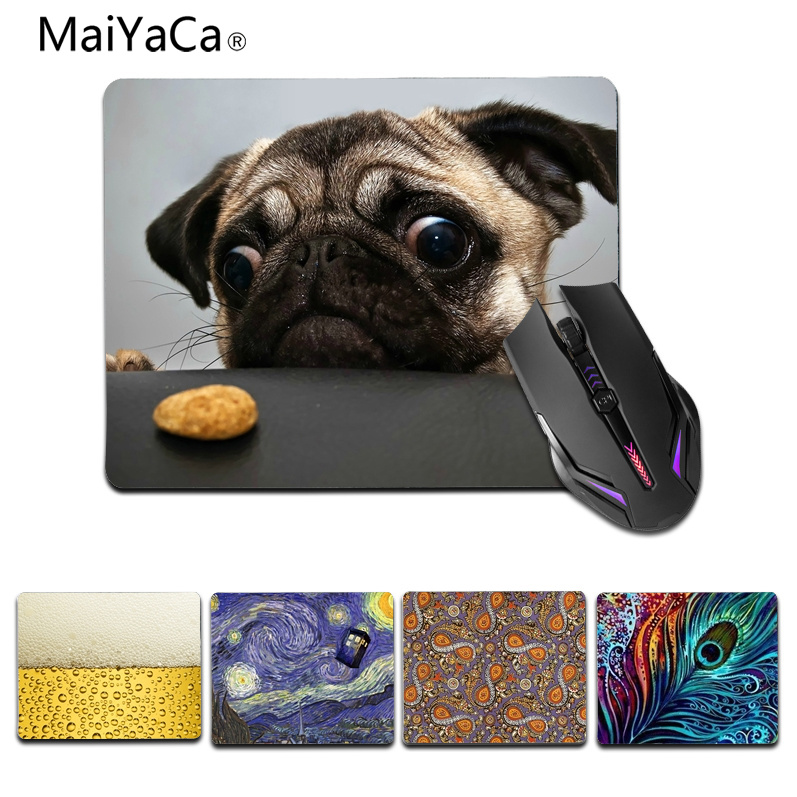 MaiYaCa Funny Hot PUG wallpaper Laptop Computer Mousepad Size for 180x220x2mm and 250x290x2mm Small Mousepad