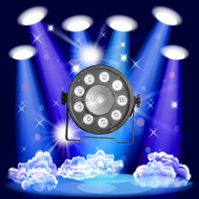 30pcs/lot 9X10W+1X30W Digit PAR Led Disco Light RGB 3IN1 LED Light Stage DJ Light DMX Led Par Party Lights in bar