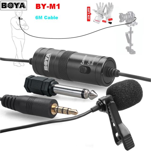 BOYA BY-M1 петличный всенаправленный конденсаторный стерео микрофон для DSLR видеокамеры записи вещания