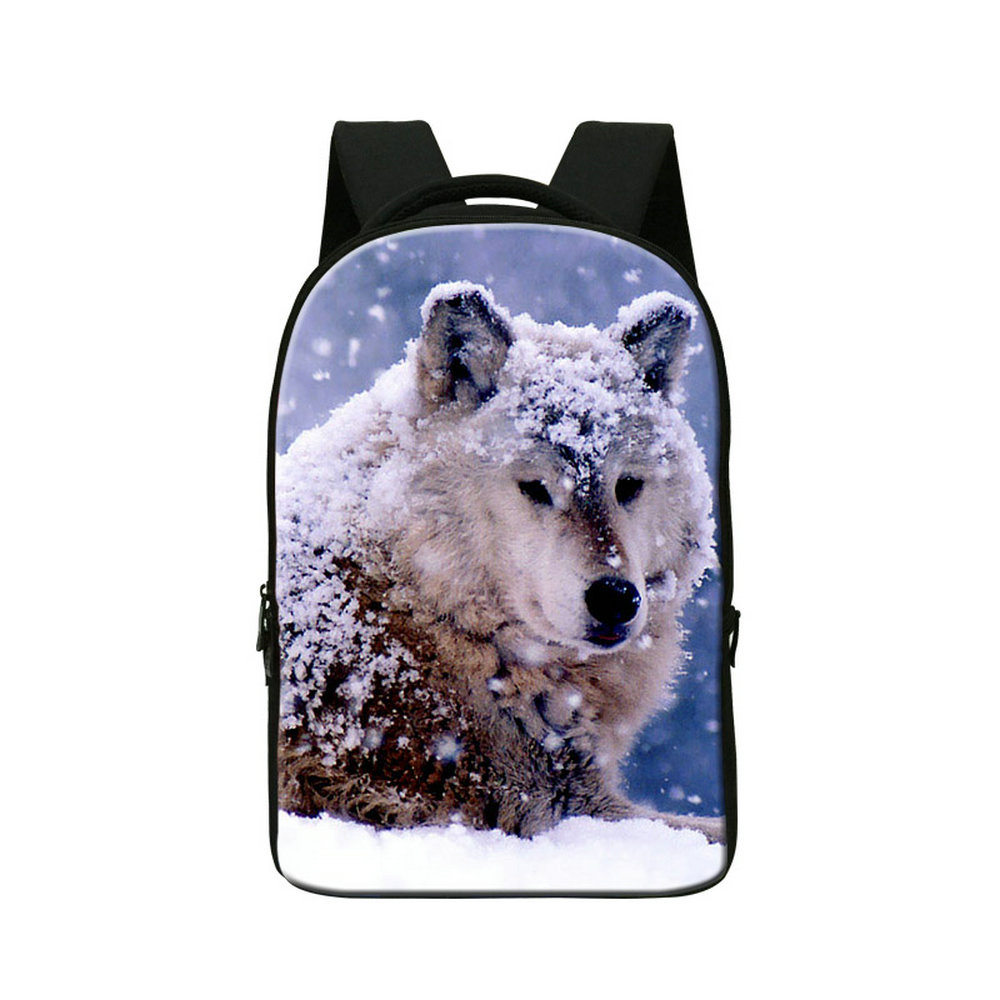 Dispalang wolf with snow design large school book bags for boys college students backpacks brand multi-function laptop back pack dispalang custom design gorilla owl school backpacks for college students 17 inch felt backpack large capacity men school bags