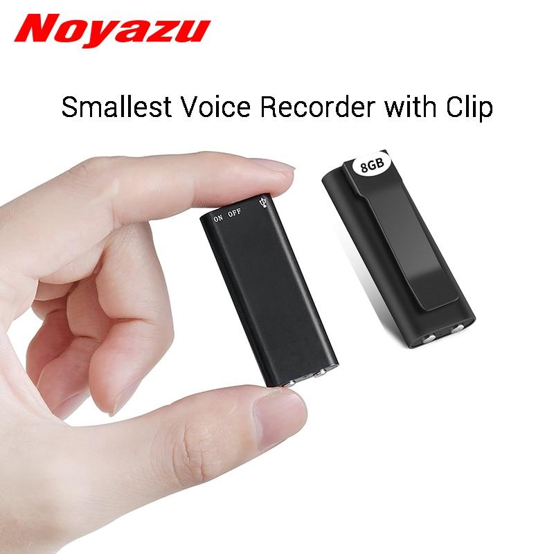 Noyazu N17 Mini Voice Recorder Mit Clip Kleine Diktiergerät Kleine Mp3 8g 16g Speicher Digital Audio Voice Recorder Elegante Form Unterhaltungselektronik