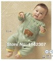 Комбинезон 2015 новый! Бесплатная доставка высокое качество новорожденный ( 4 шт./лот ) детей установлен с длинным рукавом