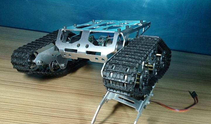 DIY 428 Alloy Tank Chassis/tracked car for remote control/robot parts for maker DIY/development kit football cart remote control robot football science model diy scientific experiments for schoolchildren