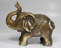 NIZZA CINESE VECCHIO martello Manuale in ottone Cinese di buon auspicio pace elephant statue Decorazione del Giardino In Ottone BRAAS
