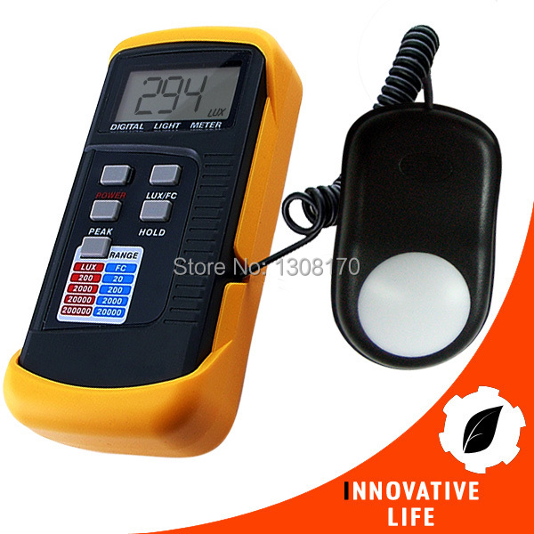 ФОТО Portable Digital Light Level Meter Tester 200k Lux Foot Candle FC LCD Photo Use for Industrial Inspection