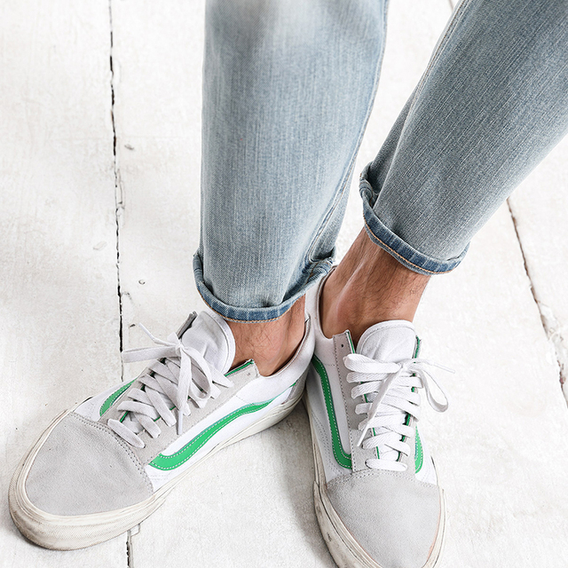 SIMWOOD 2018 Autumn New Ankle-Length Jeans Men Fashion Hole Streetwear little Stretch Slim Fit Denim Trousers 180125