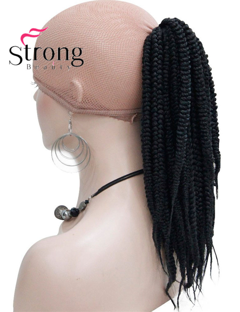 Long Afro Kinky Curly Crochet Twists Braids Ponytail Hair ...