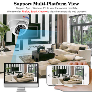 Image 4 - BESDER geniş açı 2.8mm IP kamera kablosuz ses 1080P kapalı Dome güvenlik Wi Fi IP kamera SD kart ile yuvası ONVIF RTSP FTP