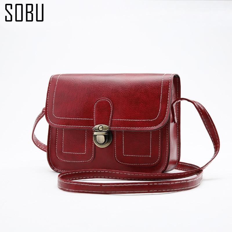 2017 New Women Messenger Bags Fashion Mini Hand Bag Retro Post Designed Shoulder F018