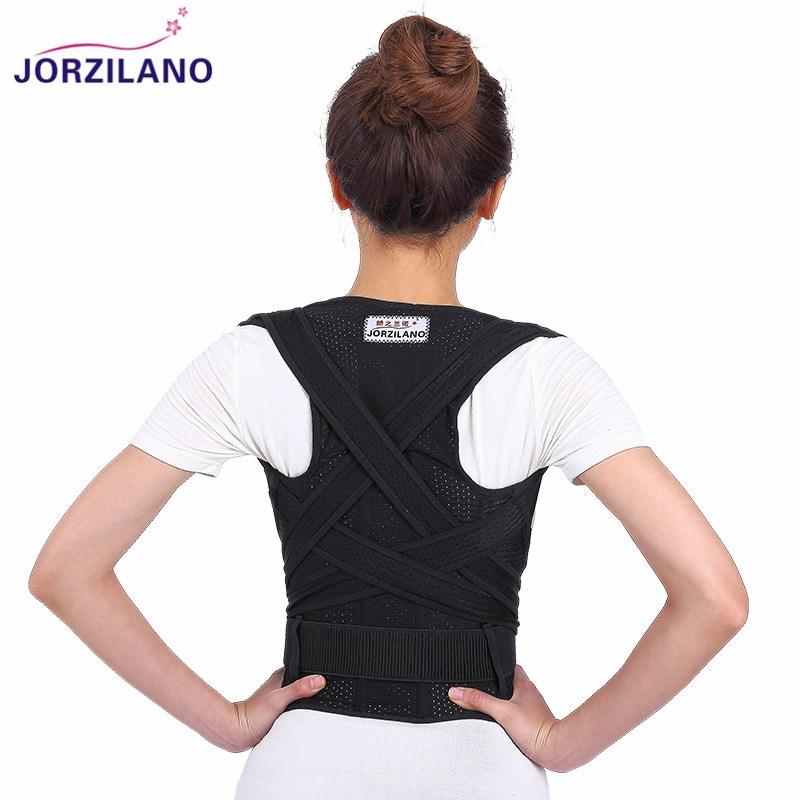 JORZILANO Adjustable Shoulder Bandage Back Belt Posture Corrector Back Support Brace Posture Belt Back Brace Health Care Adult