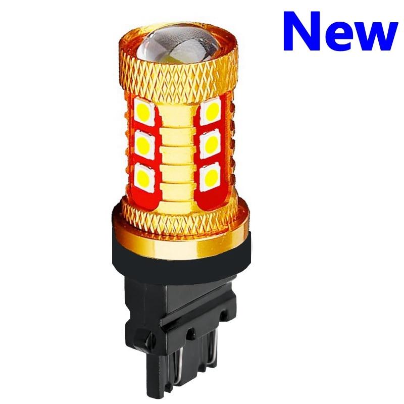 T25 3157, 3156, 3057, 3457, 4157, 3047 P27/7W P27W 1000LM 3030 LED coche de marcha atrás de copia lámparas luces de circulación diurna señal bombilla