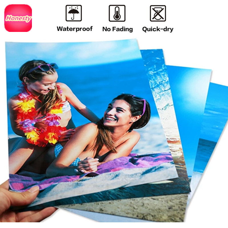 A4 Glossy Photo Paper Printer Photographic Printing Paper for A4 Inkjet Printer Printing Paper Office Supplies 20 sheets