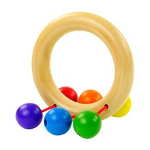 Baby Wooden Bell Rattle Toy Handbell Musical Education Percussion Instrument