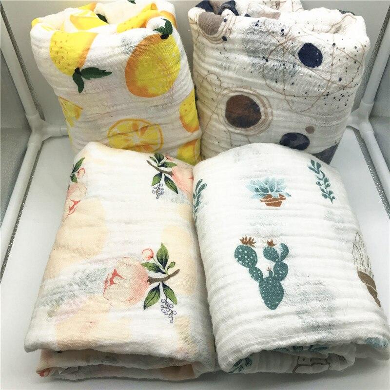 Bebé Manta de algodón muselina bebé manta swaddle calidad mejor que Aden Anais bebé baño Toalla de algodón manta abrigo infantil