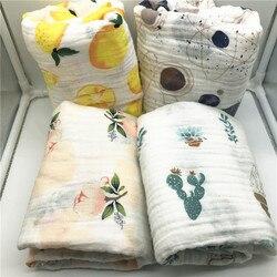 Cobertor do bebê algodão musselina swaddle cobertor melhor qualidade do que aden anais toalha de banho do bebê cobertor de algodão infantil envoltório