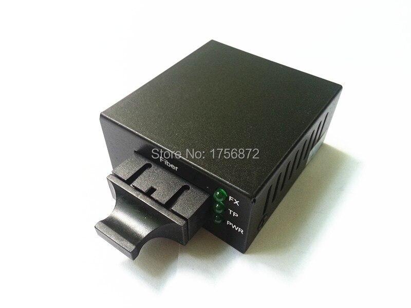 Telecom Grade Mini Single-mode megabytes fiber media converter optical transceiver RJ-45 1 SC 10 / 100M