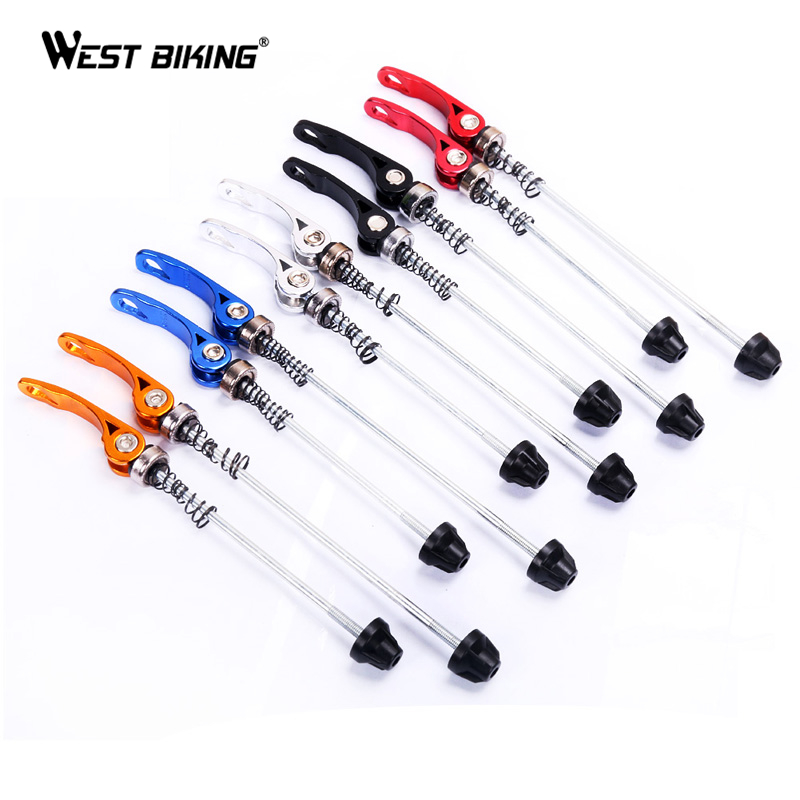 цена на New Pro Road MTB Bike Bicycle Hubs Quick Release Cycling Bike Quick Release Axle Skewers Seat Binder Set Cycling Bicycle Skewer