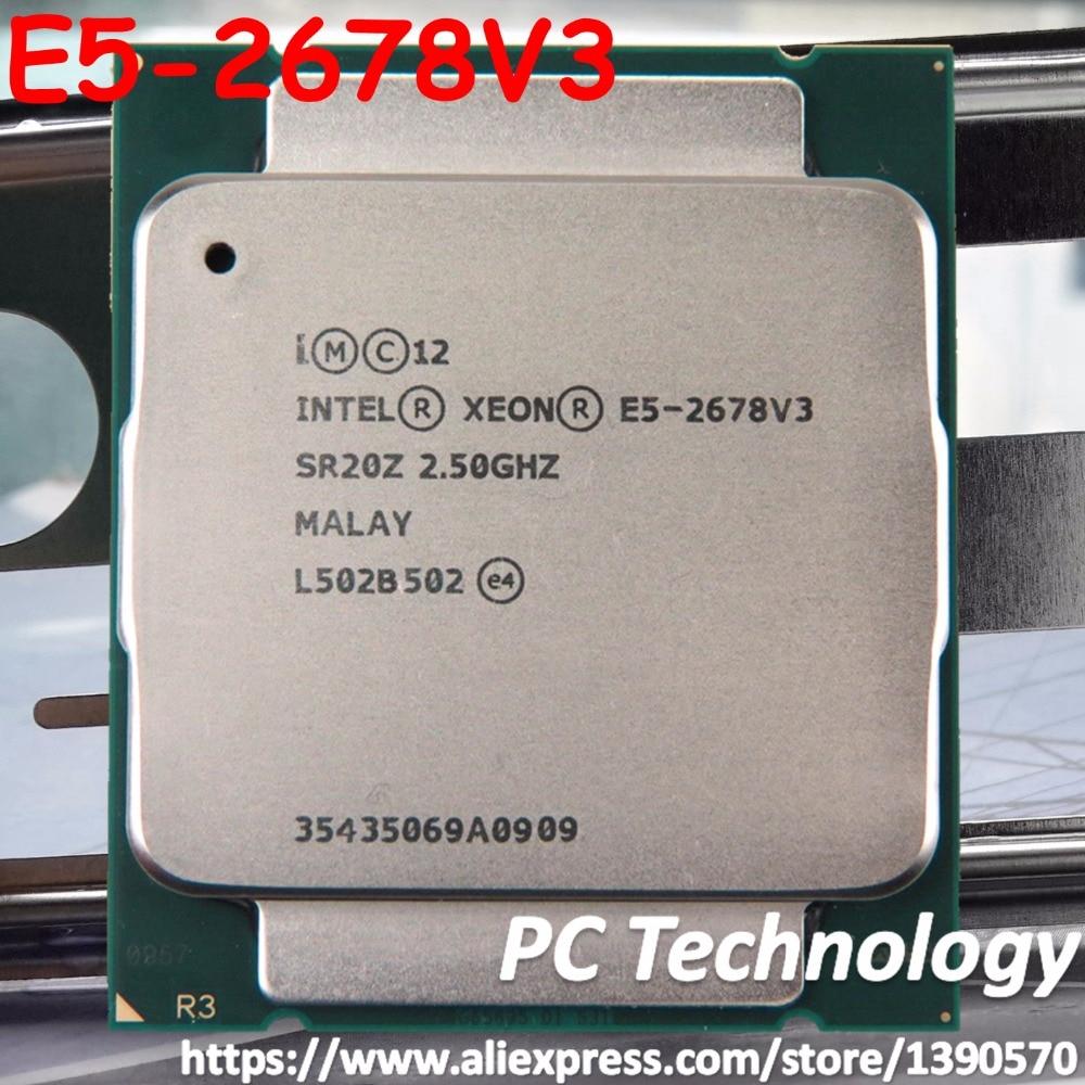 Original Intel XEON Processor E5 2678V3 OEM Version CPU 2 50GHz 12 Core 30MB E5 2678