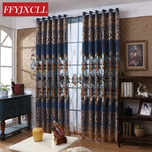 Luxury Home Decor Europe Curtains for Living Room Bedroom Window  Embroidered Tulle Drapes Balcony Decoration