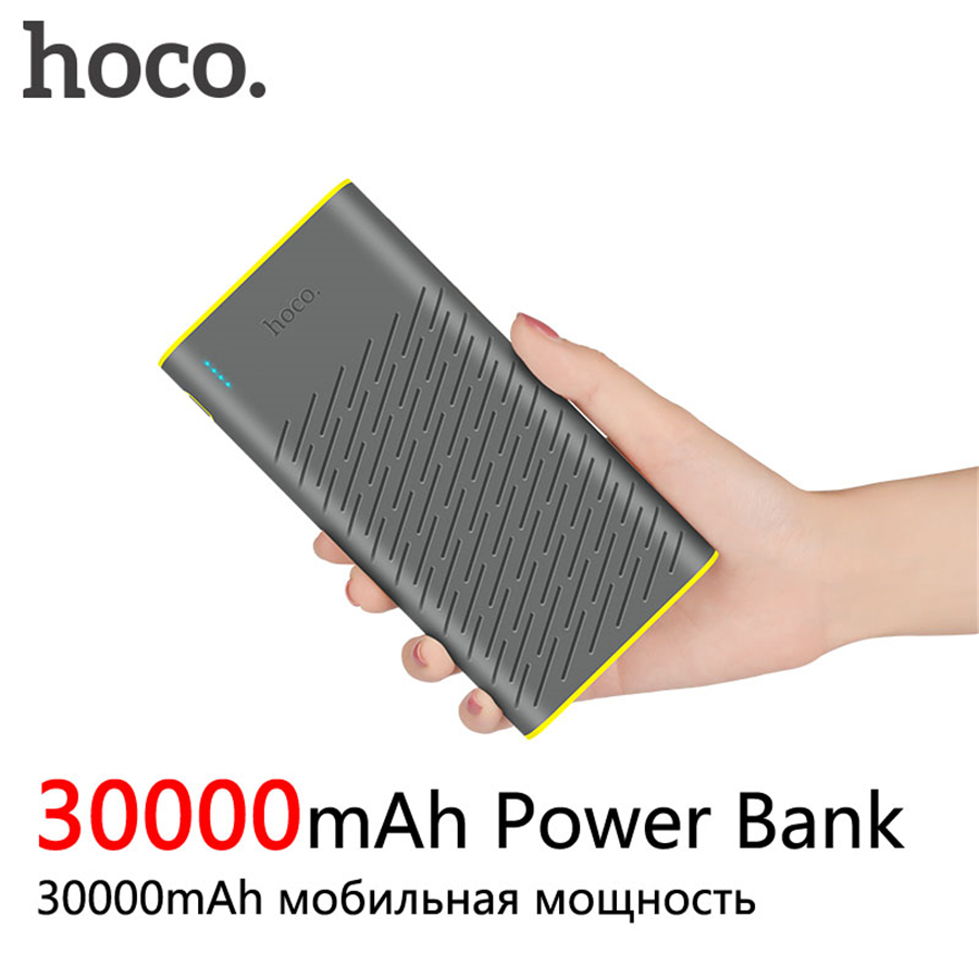 HOCO B31A Energienbank 30000 mAh 18650 Tragbare Externe Ladegerät Universal Handy Power 30000 mAh Schnelle Ladegeräte
