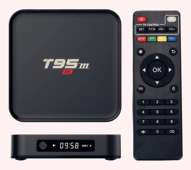 AKASO Android Tv Box T95M 1G/2G(Optional) Built in 2.4G WiFi Amlogic S905X  16.0 Android 5.1 Quad Core H.265 4K Media Player