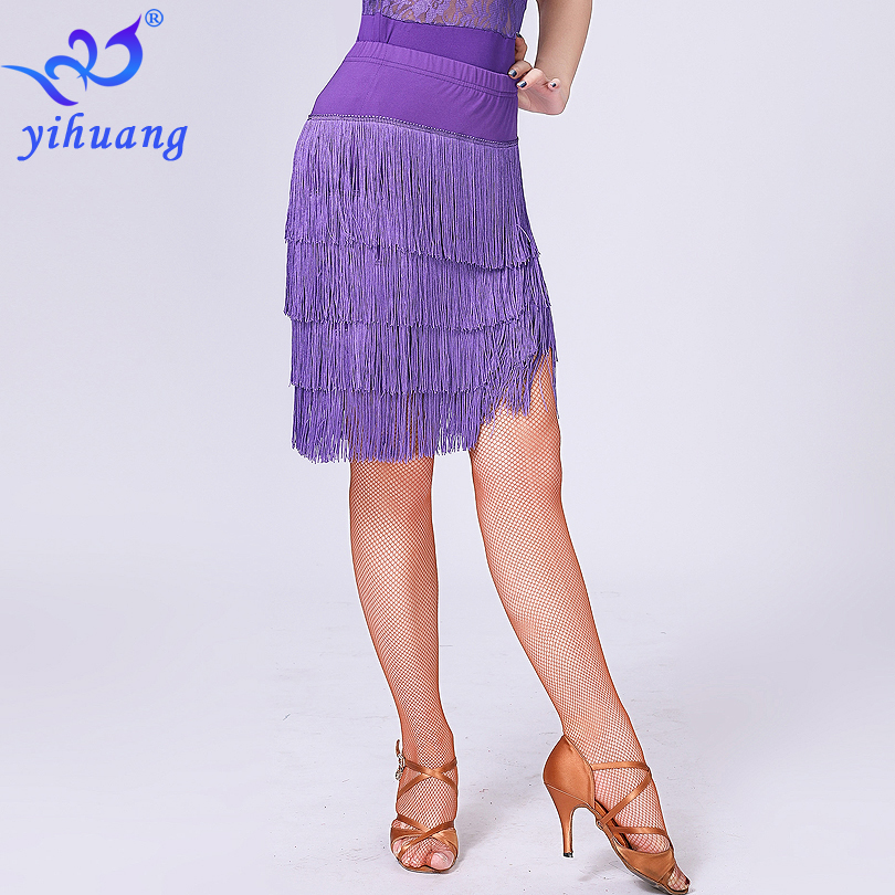 Image 2 - 2019 desempenho feminino dança vestir saia latina saia borla franja salão de baile jazz salsa cha tango charleston dança saiaLatino   -