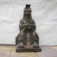 Artisanat statu Mer de Chine Orientale Dragon Roi Dragon Roi statue de cuivre ornements Chanceux maison de ville défend s'asseoir Dragon Artisanat halloween