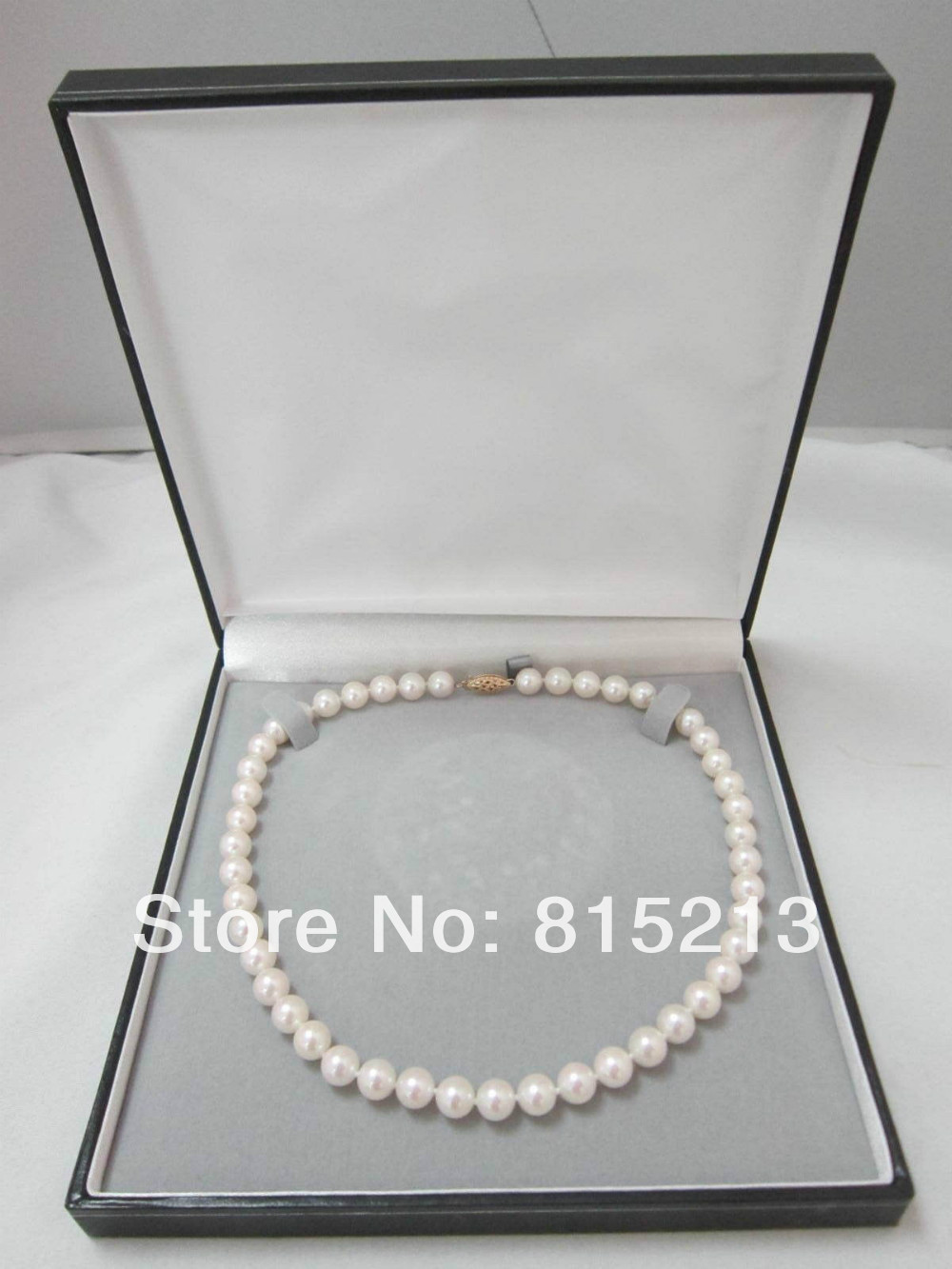 FREE SHIPPING>@@> N1195 New Yellow Gold 7.5-8mm White Japanese Akoya Cultured Pearl Necklace AAAFREE SHIPPING>@@> N1195 New Yellow Gold 7.5-8mm White Japanese Akoya Cultured Pearl Necklace AAA