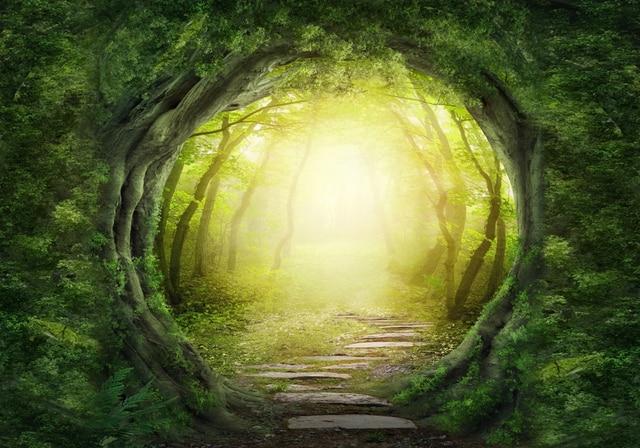 Photography Backdrop Tree Green Screen Chromakey Garden