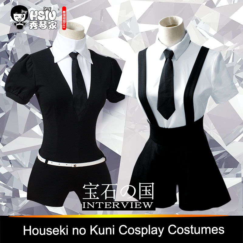 HSIU High Quality Anime Houseki no Kuni Costumes Phosphophyllite Diamond Bort bodysuit Cosplay Costumes Accessories Jumpsuits rolecos new anime kobayashi san chi no maid dragon cosplay costumes miss kobayashi s dragon maid elma cosplay costumes