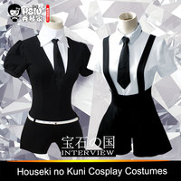 HSIU High Quality Anime Houseki No Kuni Costumes Phosphophyllite Diamond Bort Bodysuit Cosplay Costumes Accessories Jumpsuits