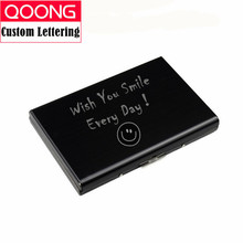 купить QOONG 2019 Titanium Black Credit Card Holder Men Slim Anti Protect Travel ID Cardholder Women Rfid Wallet Metal Case Porte Carte дешево
