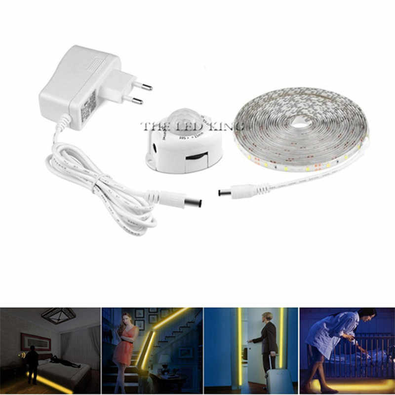 モーションセンサー LED ませストリップ防水 1.2 メートル 36LED PIR Led ストリップウォームホワイト自動遮断タイマー高品質ベッドライト