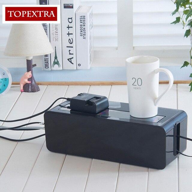 TOPEXTRA Große Größe Aufbewahrungsbox Kabel Box Steckdose ...