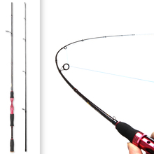 цена на Spinning Fishing Rod 1.98m 4-10g 2 Section Spinning Rod M Power Canne A Peche Carbon Fishing Pole