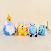 4pcs lot Finn and Jake Adventure Time Kids Toys Soft Baby Plush Toys Doll Ice King