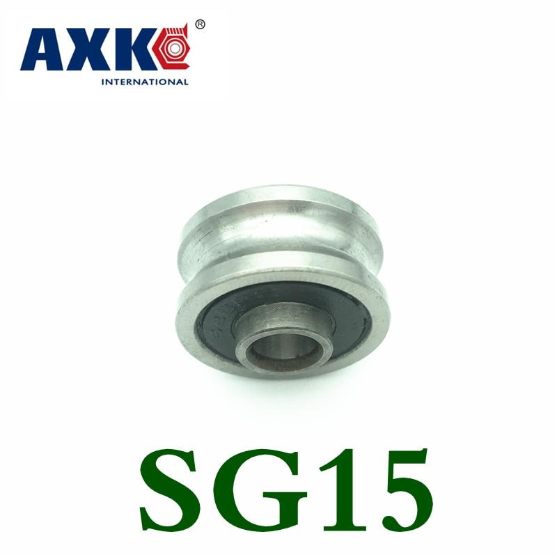 купить 2018 Axk 10 Pcs Sg15 Sg5rs U Groove Bearings 5x17x8x9.75mm For Tracking Guide Roller For Co2 Laser Engraving Cutting Machine по цене 580.84 рублей