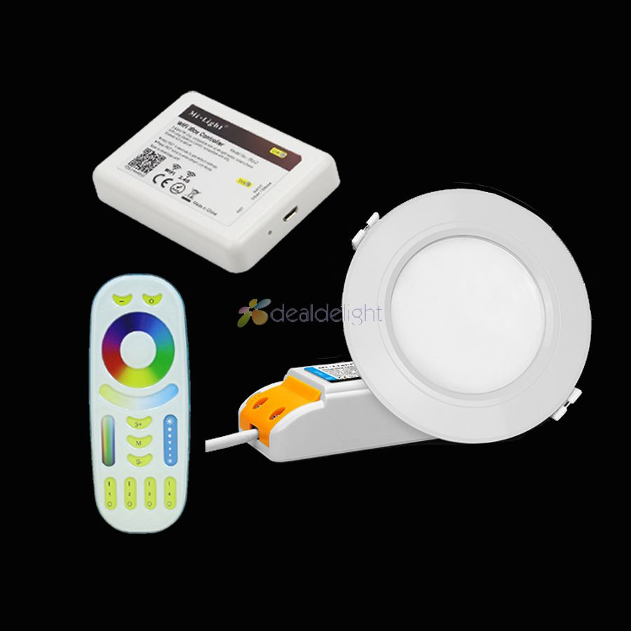 Zlinke Recessed Lighting Smart Downlight 4 Inch WiFi LED RGB Color ...