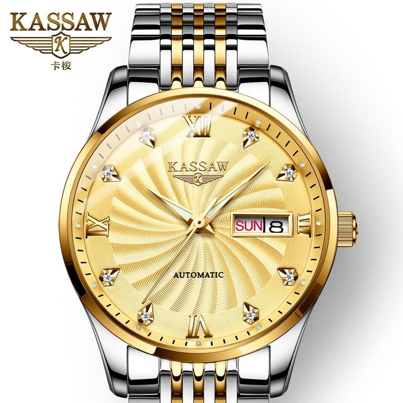 KASSAW Luxury Brand Genuine Watch Men 39 s Mechanical Watch Automatic Men 39 s Watch Luminous Waterproof Relogio Masculino in Mechanical Watches from Watches