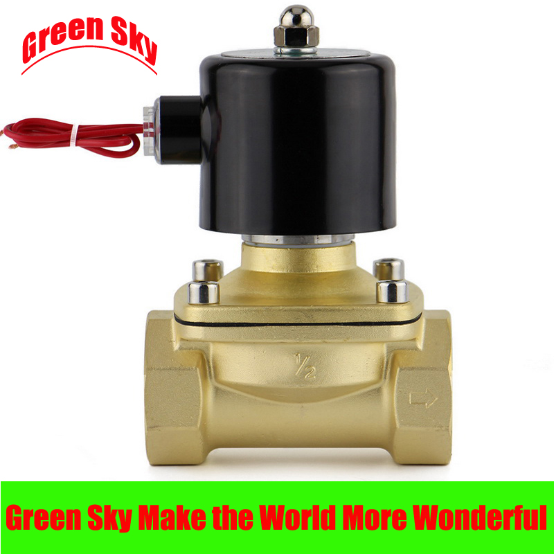 цена на DC12V/24V/AC110V/220V 2 way 2 position 1/2'' port air diesel gas low viscosity fluids normally closed solenoid valve 12v 1/2