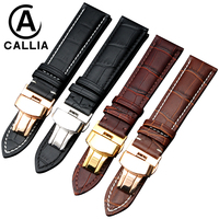 High Quality Genuine Calf Hide Leather For IWC Omega Tissot Watch Strap Band 14mm 16mm 18mm