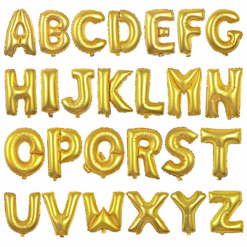 16 polegada rosa ouro alfabeto letra balões nomes número balões folha de letra balões decoração do casamento carta balão de hélio