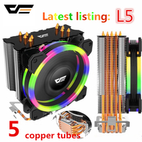 Aigo darkflash L5 LED CPU Cooler Radiator TDP 285W Heat Sink AMD Intel Silent 120mm 4Pin PC CPU Cooling Cooler Heatsink Fan